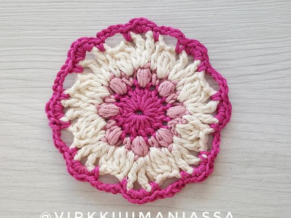 Ohje: virkattu kukka - May Flower