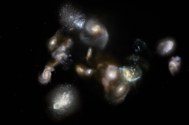 Assembly of massive galaxy cluster witnessed for the first time
