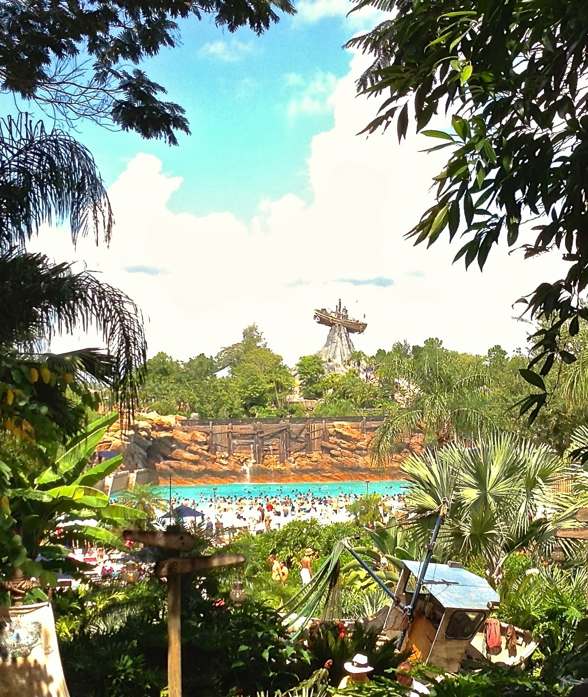 Typhoon Lagoon, Walt Disney World | Morgan's Milieu: A photo of the stranded boat at Typhoon Lagoon.