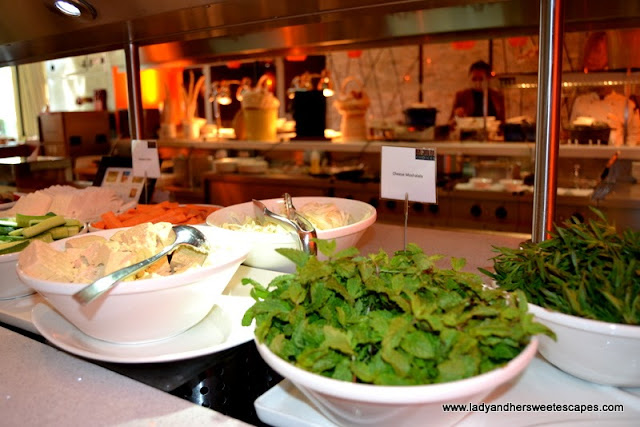 healthy options at Choices restaurant in Yas Island Rotana