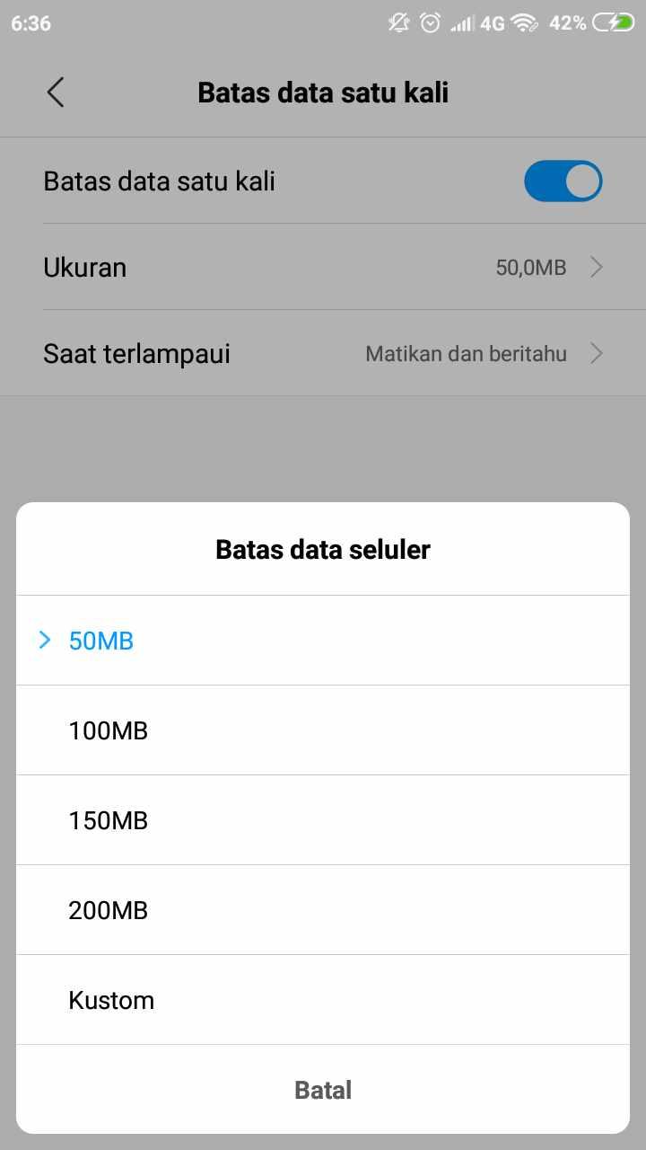 Agar tak boros kuota, cara membatasi penggunaan data hotspot pada ponsel Xiaomi 6
