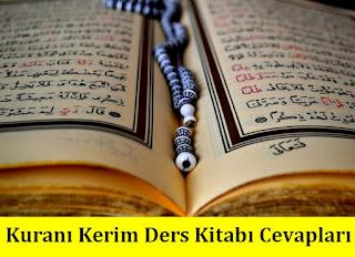 7. Sınıf Kuranı Kerim Tutku Yayınları Ders Kitabı Cevapları