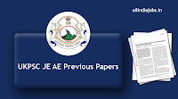UKPSC JE AE Previous Papers
