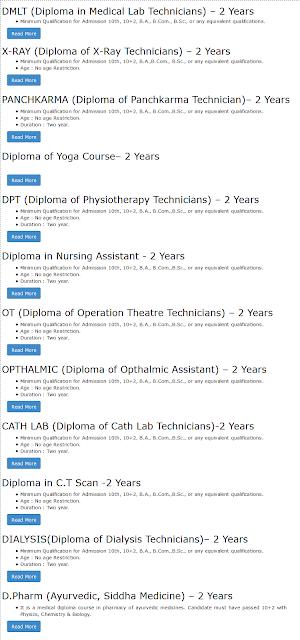 Diplomas at Om Sai Para Medical Institute