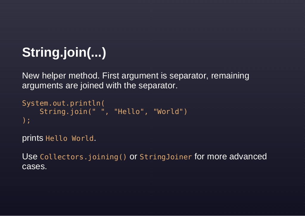 10 Examples of Joining String in Java 8 - StringJoiner and String.join()