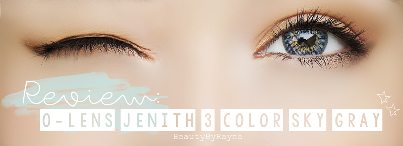 O-lens Jenith 3 Color Sky Gray 제니스 3칼라 스카이그레이 contact circle lenses review and photos