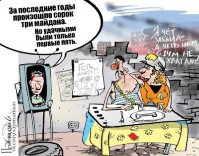 Антирейтинг недели. «Украина – цэ Россия», даёшь новый Майдан и «московские Жуки»