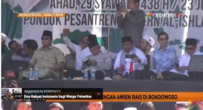 Prabowo, Amien Rais Dan Ketua GNPF Bertemu di Bondowoso, Bahas Apa Ya ?
