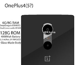 [Tech] OnePlus 4 smartphone to feature 1440p AMOLED display, 8 GB RAM and Snapdragon 830/835 processor