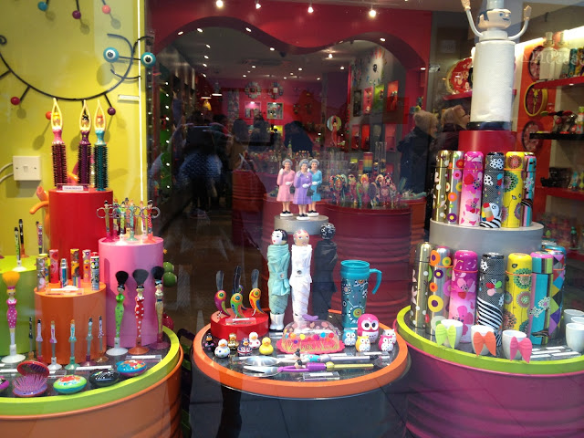 Colourful shop window