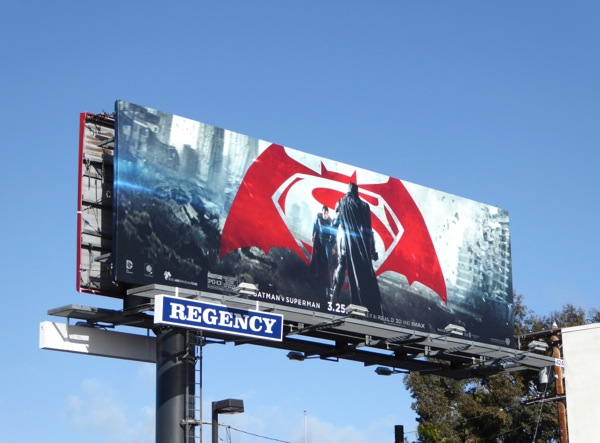 Batman v Superman movie billboard