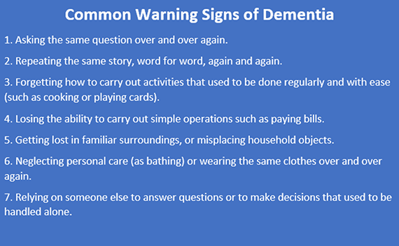 Does memory loss mean dementia