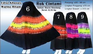 Rok batik model umbrella edisi special warna hitam