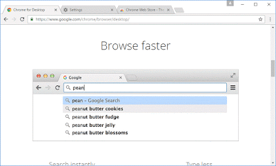 Fastest browser search integrated in address bar
