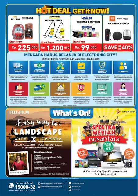 Katalog Promo ELECTRONIC CITY Terbaru Mingguan Periode 10 - 15 Februari 2018