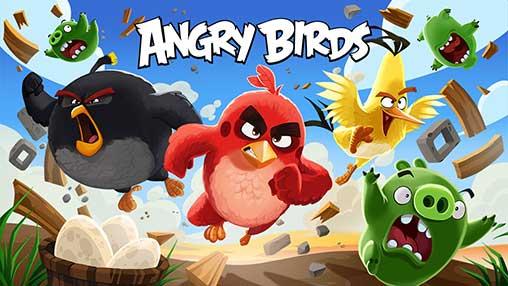 تحميل Angry Birds مهكرة اصدار الجديد اضافة كثير مميزات