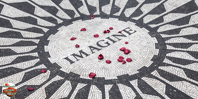 "Header image of the article: ""30 John Lennon Quotes About Life And Lessons To Inspire You"". Imagine, Memorial."