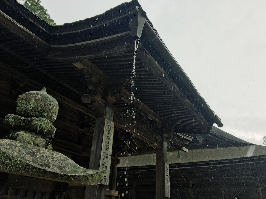 Architecture detail of a temple in Koyasan Japan