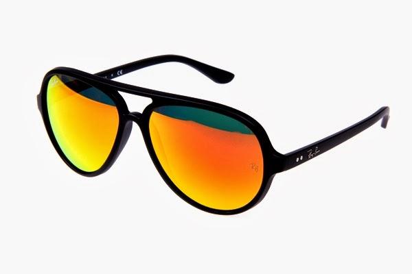 dd63f3c24f ... low cost ray ban cats rb 4125 black frames mirror orange lens 8ab10  037aa
