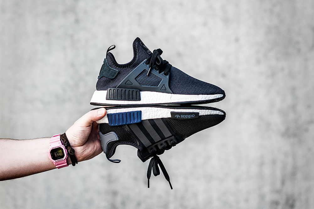 JD Sports X Adidas Originals NMD XR1 Black Sneakers / JD Sports X Adidas Originals NMD R1 Black Sneakers by Tom Cunningham