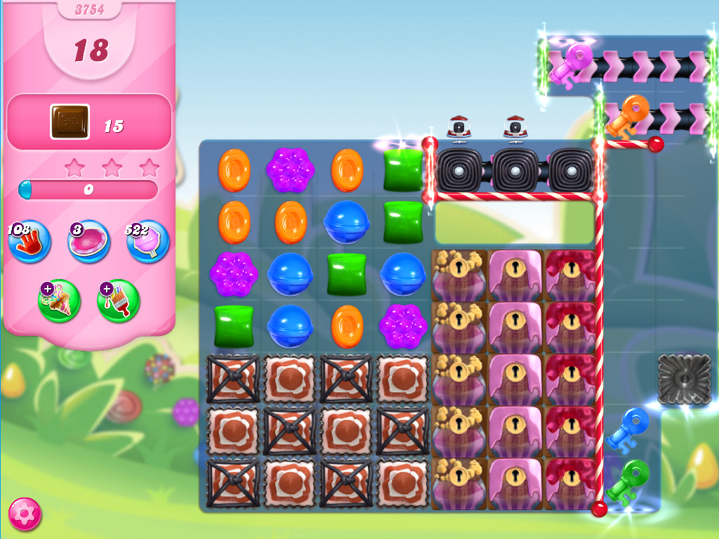 Candy Crush Saga level 3754