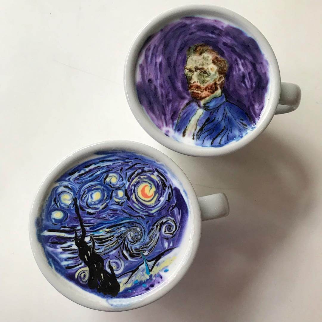 01-Vincent-van-Gogh-Lee-Gwan-Bin-Famous-Paintings-in-Coffee-Food-Art-www-designstack-co