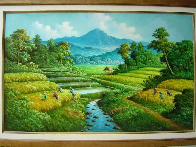 1001 Gambar Keren Gambar Lukisan Pemandangan