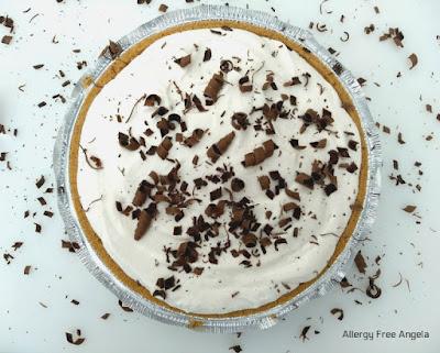 NO BAKE GLUTEN FREE, DAIRY FREE CHOCOLATE CREAM PIE- VEGAN, SOY FREE, NUT FREE