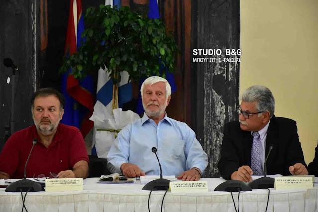 Στο Ναύπλιο συνεδρίασε το Περιφερειακό Συμβούλιο Πελοποννήσου