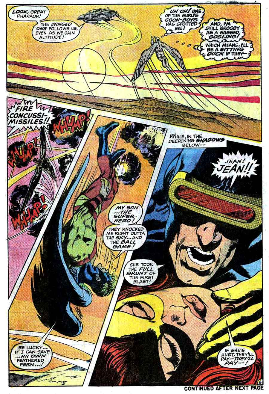 X-men v1 #56 marvel comic book page art by Neal Adams