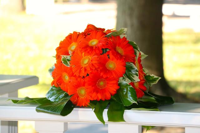Bouquet Gerbere Arancioni Castello dei Solaro