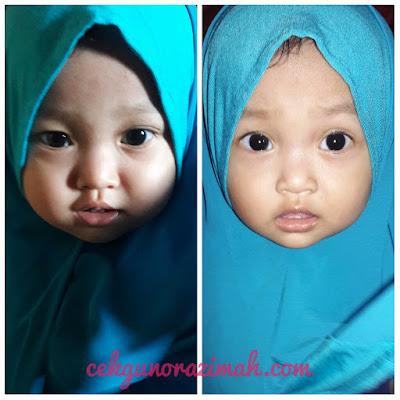 dhia zahra, shawl kanak-kanak, shawl instant kanak-kanak