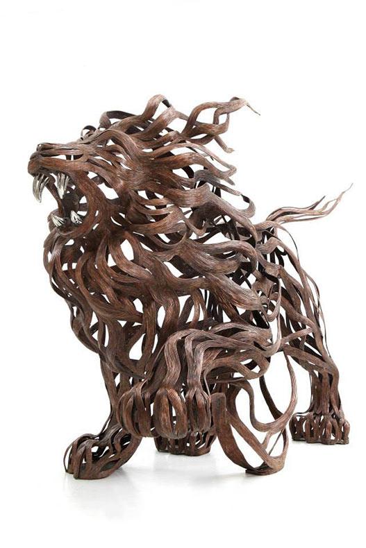 Esculturas de animales de tiras metálicas por Sung Hoon Kang
