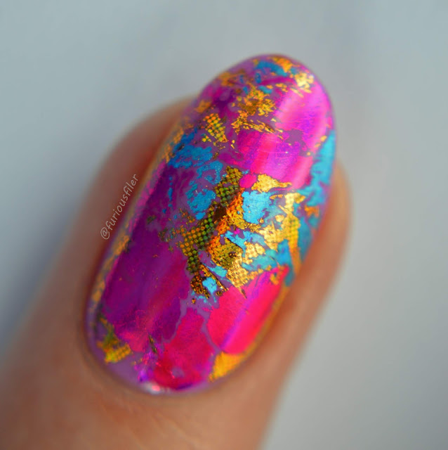 furious filer macro foil metallic nail art
