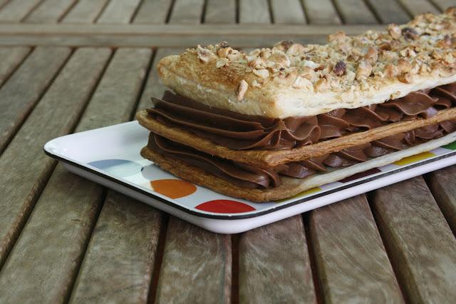 Tarta milhojas de mascarpone y chocolate
