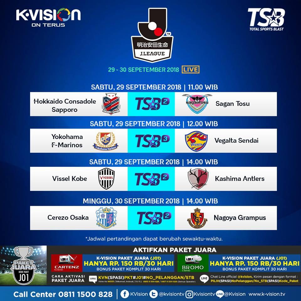 J LEAGUE Hadir di K-Vision Melalui Channel TSB