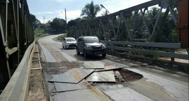 Polres Waykanan Pastikan Perbaikan Jebatan Way Umpu Dilakukan Jum'at Pekan Ini