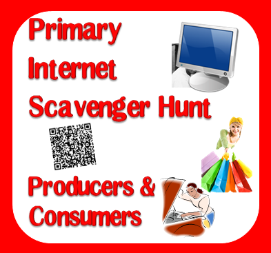 Free internet scavenger hunt ( webquest ) to help your students explore the concept of producers and consumers from Raki's Rad Resources