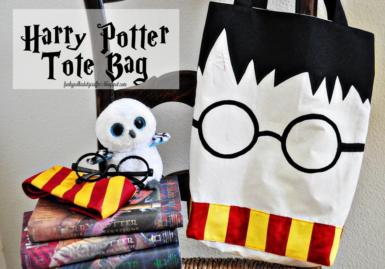 Funky Polkadot Giraffe: Harry Potter Tote Bag {Tutorial}