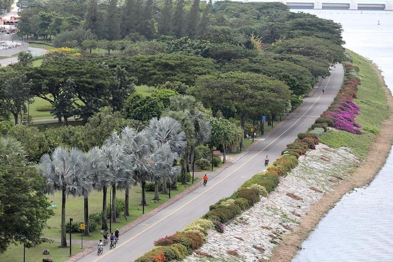 View of the Bay East Garden at Gardens by the Bay, where the Founders' Memorial will be built.