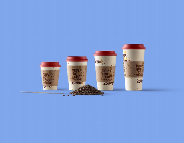 Takeaway coffee cup mockup template free psd