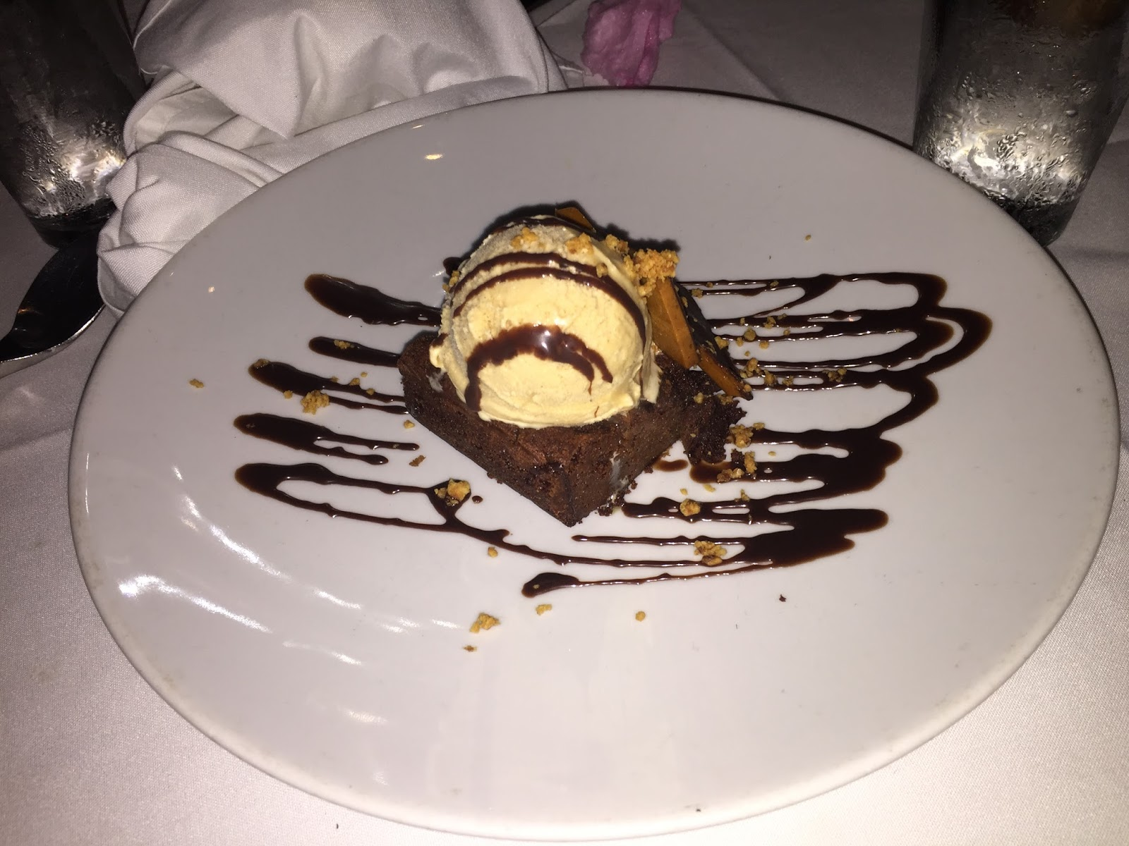 Nutella Brownie Dessert at Ibiza