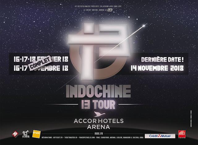 Indochine anuncia 4 conciertos más para la 2da ola del '13 Tour'