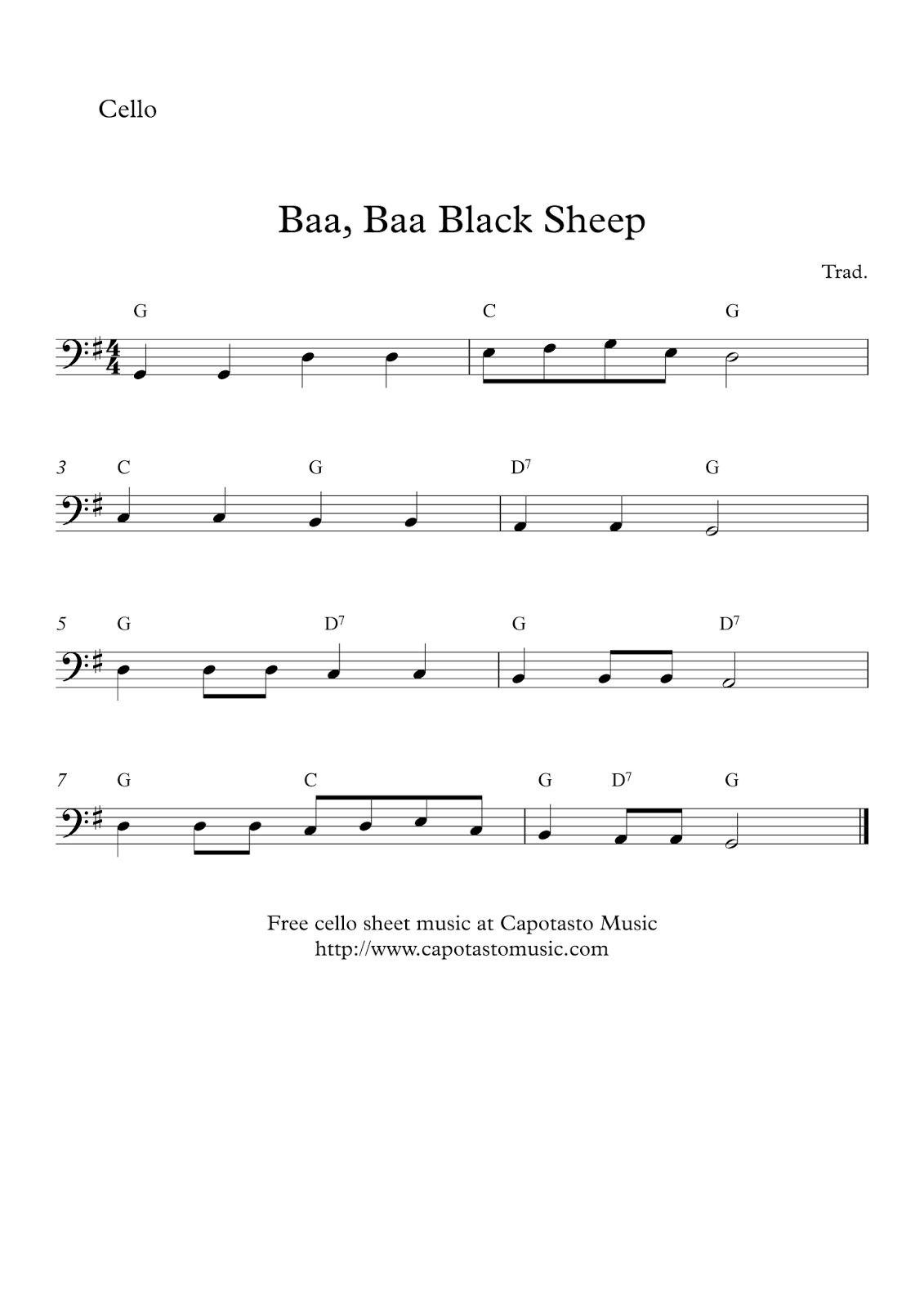 Free Printable Sheet Music Free Cello Solo Sheet Music