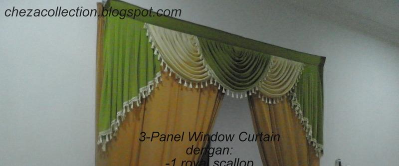 Patern Pelmet Persona Jendela 2 Dan 3 Panel