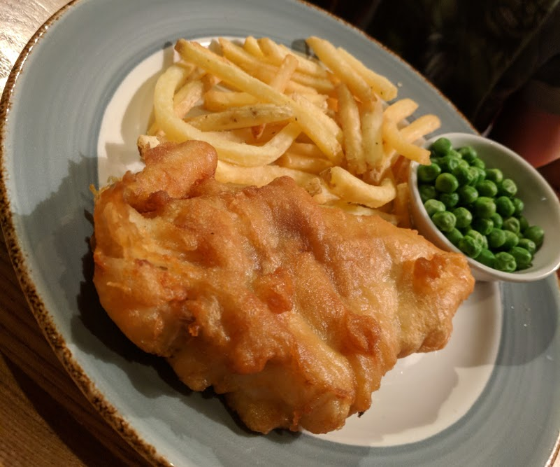 A lovely pub lunch & a trip to Corbridge Roman Town with kids  - The Black Bull Kids Fish, Chips and Peas