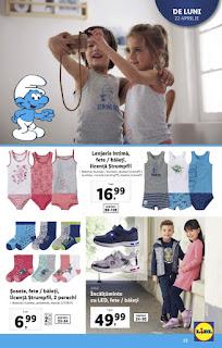 CATALOGUL LIDL 22 - 27 aprilie 2019 promotii hainute pentru fetite