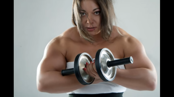 Clip Female Bodybuilders, Girls-women who are stronger than men