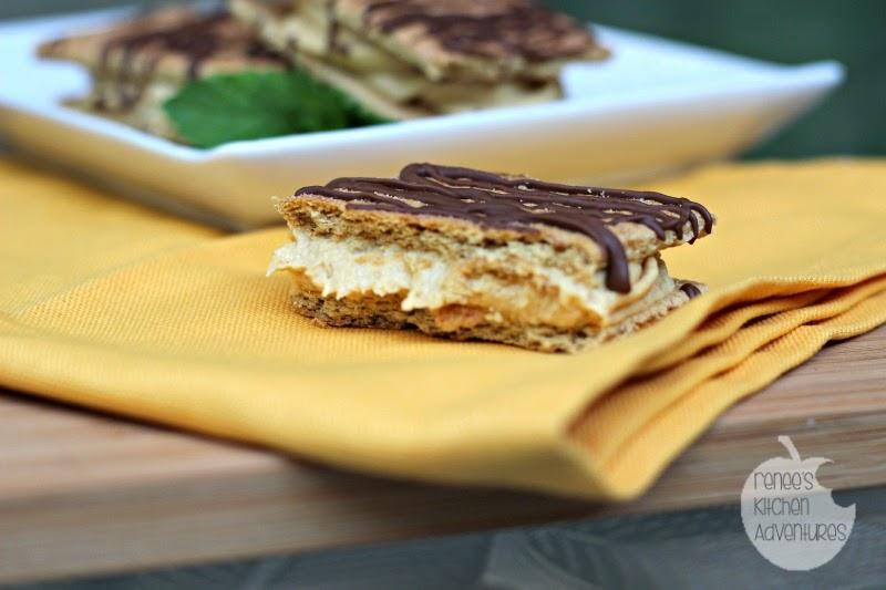 Quick and Easy Frozen Peanut Butter Snack Squares: #AddCoolWhip #shop #dessert