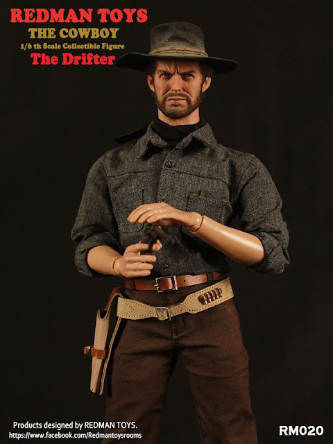 osw.zone REDMAN TOYS 1 / 6. Scale The Drifter Cowboy 12-inch collector figure aka Clint Eastwood